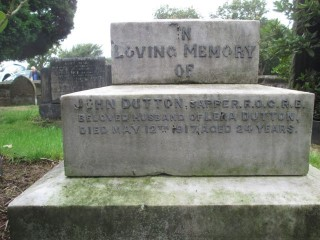 John Dutton - memorial inscription