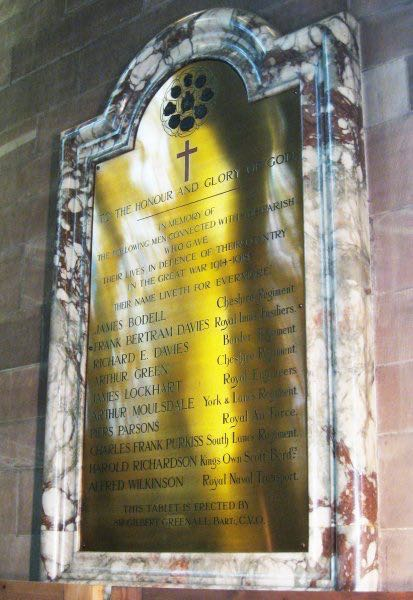 WW1 memorial at St John's, Walton